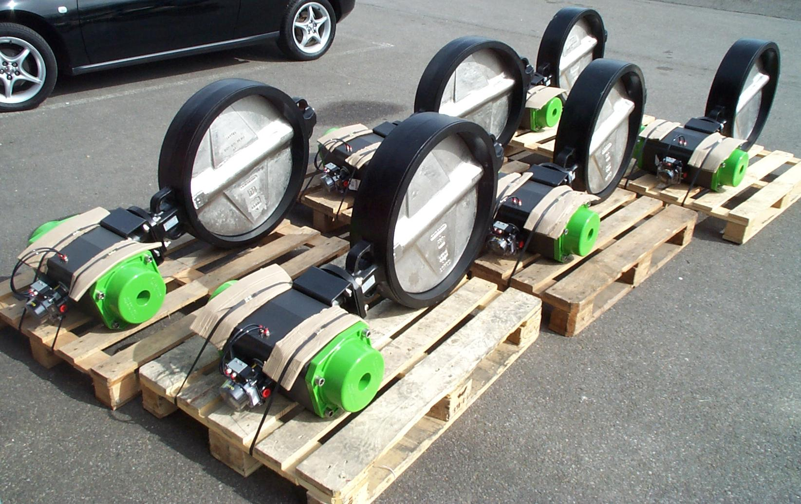 Power-Tork Actuator to Butterfly Valve